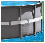 Intex metalen frame zwembad 427x107 cm de bruine zwembaden for Intex zwembad grijs